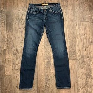 "BKE ""Kate"" Distressed Skinny Jeans - 30""x 32"" EUC"